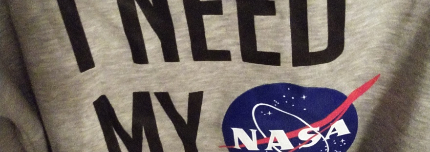 I need my space grey NASA funny sweater with matching slipper socks.